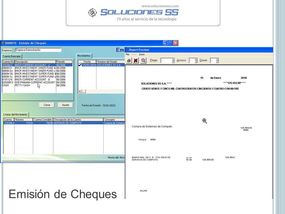 Emisión de Cheques