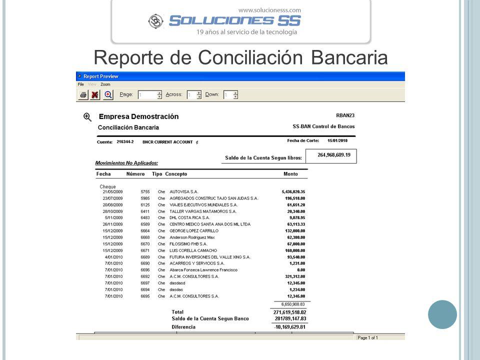 Reporte de Conciliación Bancaria