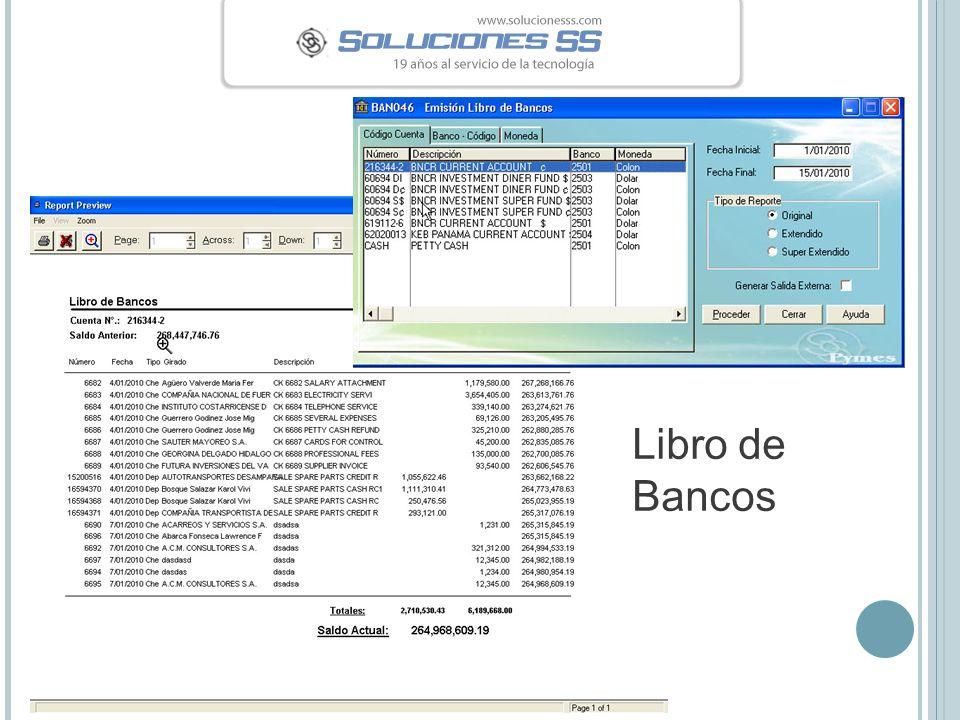 Libro de Bancos