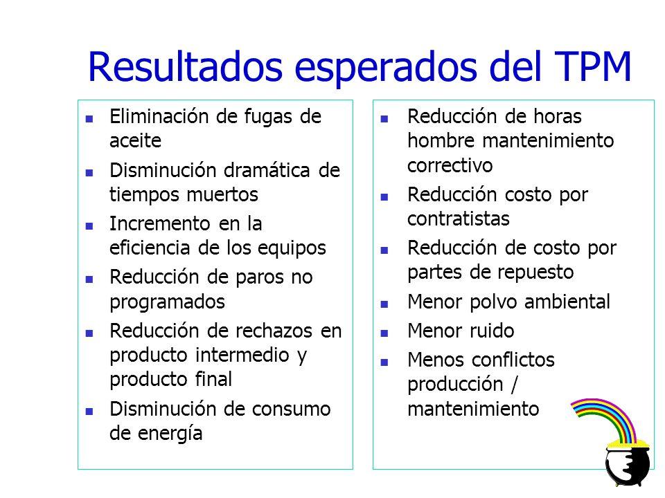 L O S P A S O S L A S A C T I V I D A D E S 1.- Limpieza Inicial (5Ss) 2.- Acciones en la fuente de los problemas 3.- Estándares de limpieza y lubrica
