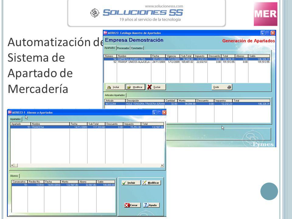 Automatización del Sistema de Apartado de Mercadería