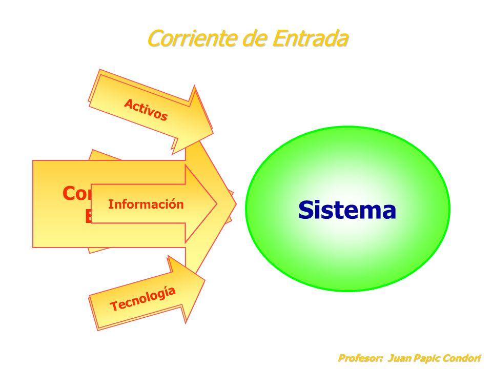 Corriente de Entrada Profesor: Juan Papic Condori Recursos Materiales Sistema Recursos Financieros Recursos Humanos Corriente de Entrada Materiales Ac