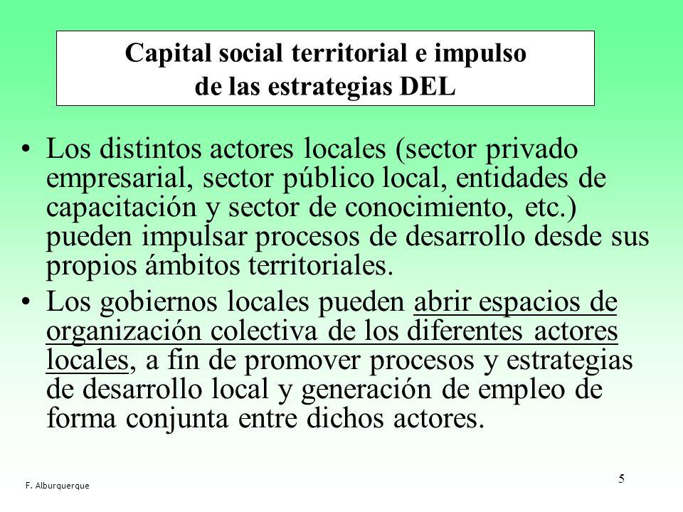 Los distintos actores locales (sector privado empresarial, sector público local, entidades de capacitación y sector de conocimiento, etc.) pueden impu