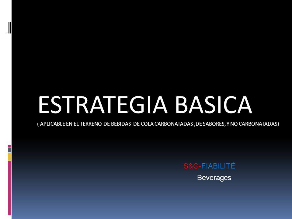 ESTRATEGIA BASICA ( APLICABLE EN EL TERRENO DE BEBIDAS DE COLA CARBONATADAS,DE SABORES, Y NO CARBONATADAS) S&G-FIABILITÉ Beverages