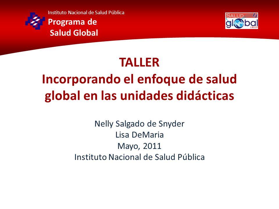 Docencia Integrando material en las UD que promueva la reflexión en torno a cómo los procesos locales impactan la salud en el mundo y cómo los procesos globales impactan la salud local.