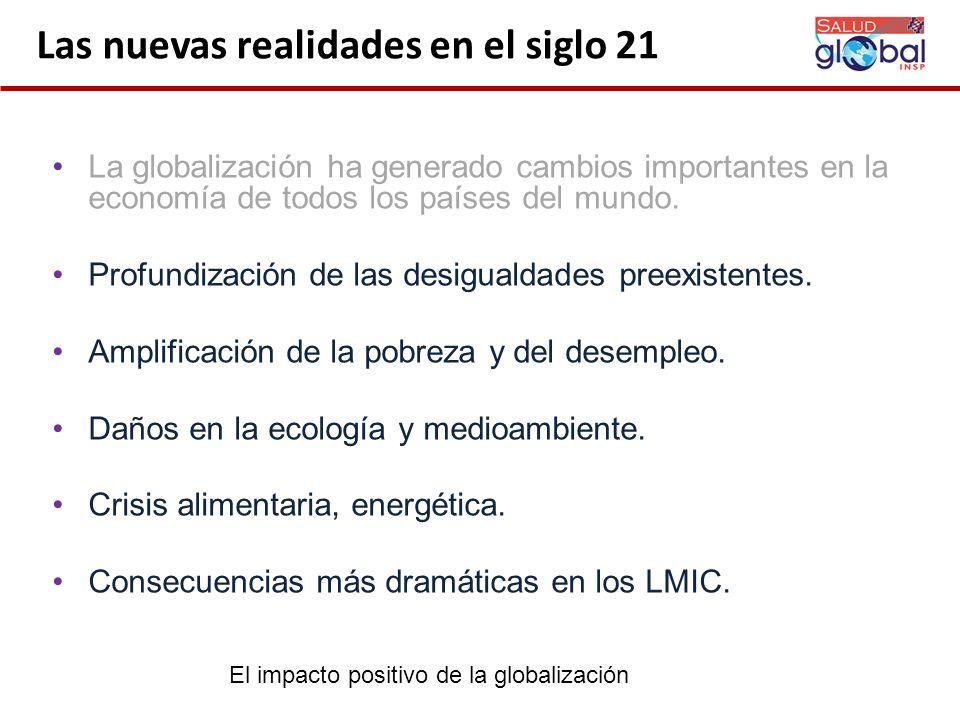 Cambios sociales Pobreza y exclusión social.Urbanización creciente (78% en México).