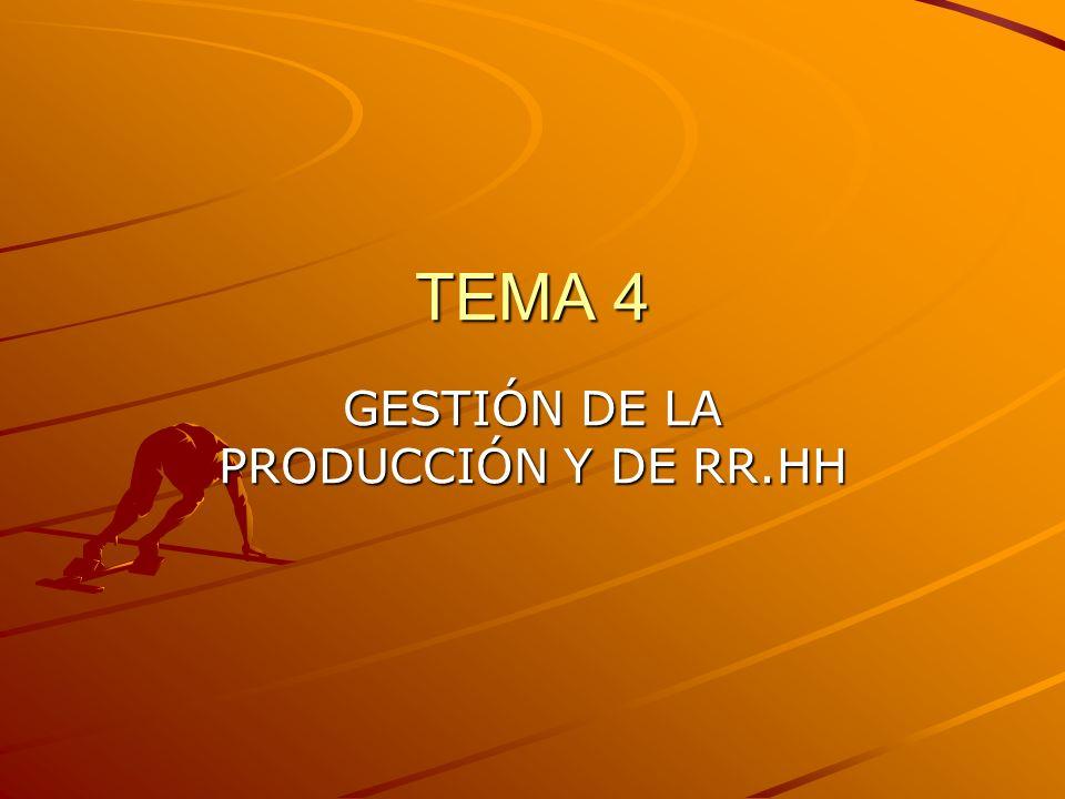 TEMA 4 GESTIÓN DE LA PRODUCCIÓN Y DE RR.HH
