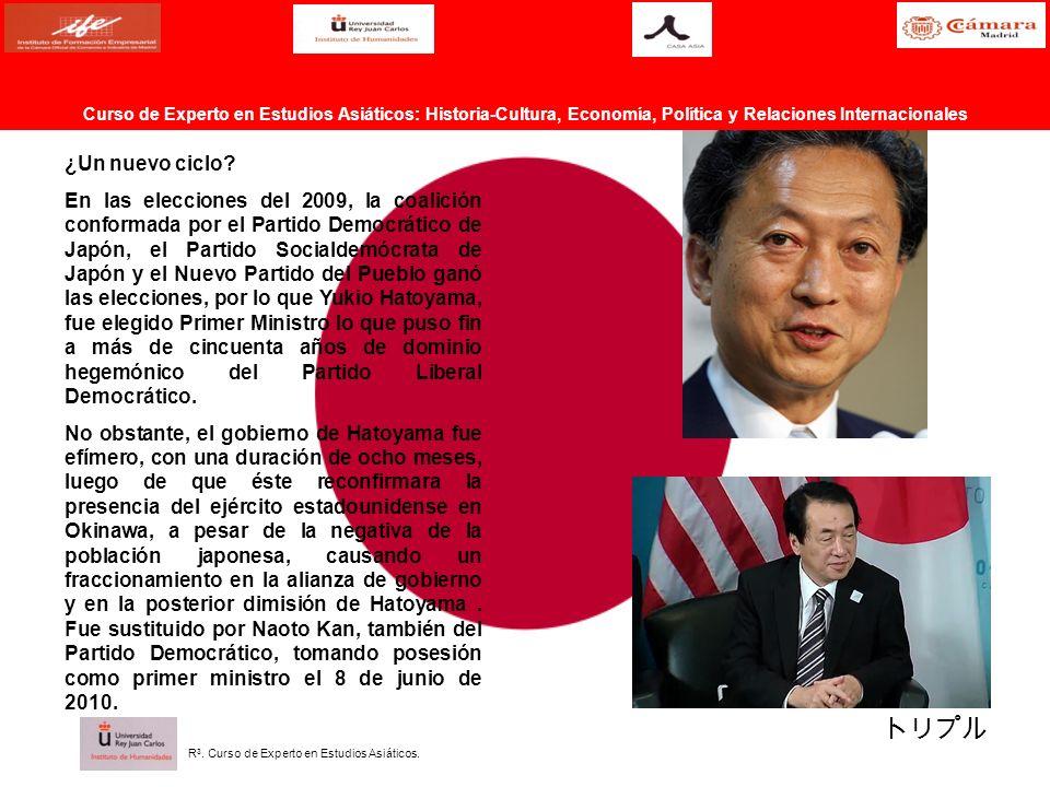 ¿Un nuevo ciclo? En las elecciones del 2009, la coalición conformada por el Partido Democrático de Japón, el Partido Socialdemócrata de Japón y el Nue