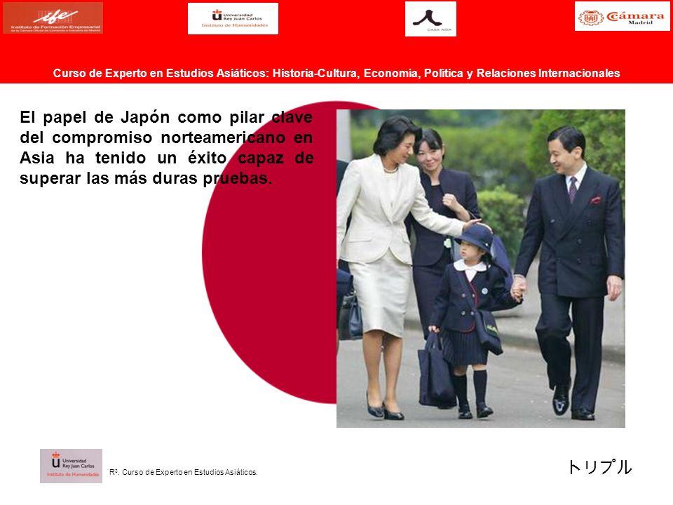 El papel de Japón como pilar clave del compromiso norteamericano en Asia ha tenido un éxito capaz de superar las más duras pruebas. Curso de Experto e