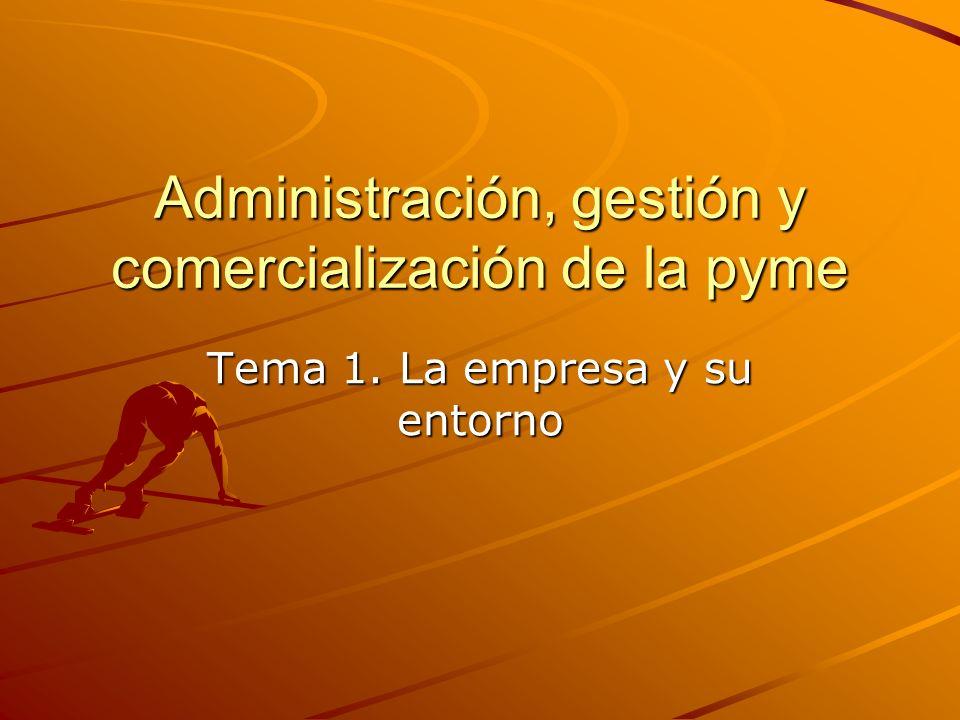 Administración, gestión y comercialización de la pyme Tema 1. La empresa y su entorno