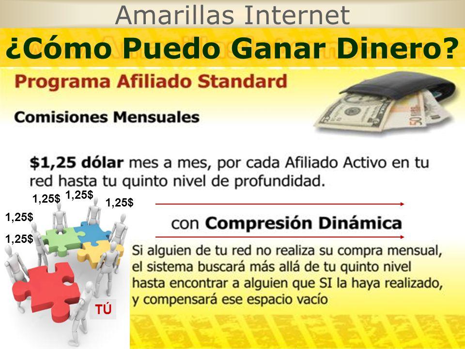 Amarillas Internet TÚ 1,25$ ¿Cómo Puedo Ganar Dinero?