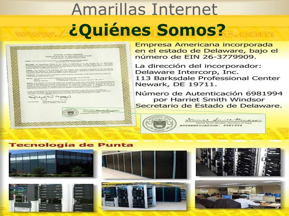 Amarillas Internet ¿Quiénes Somos?