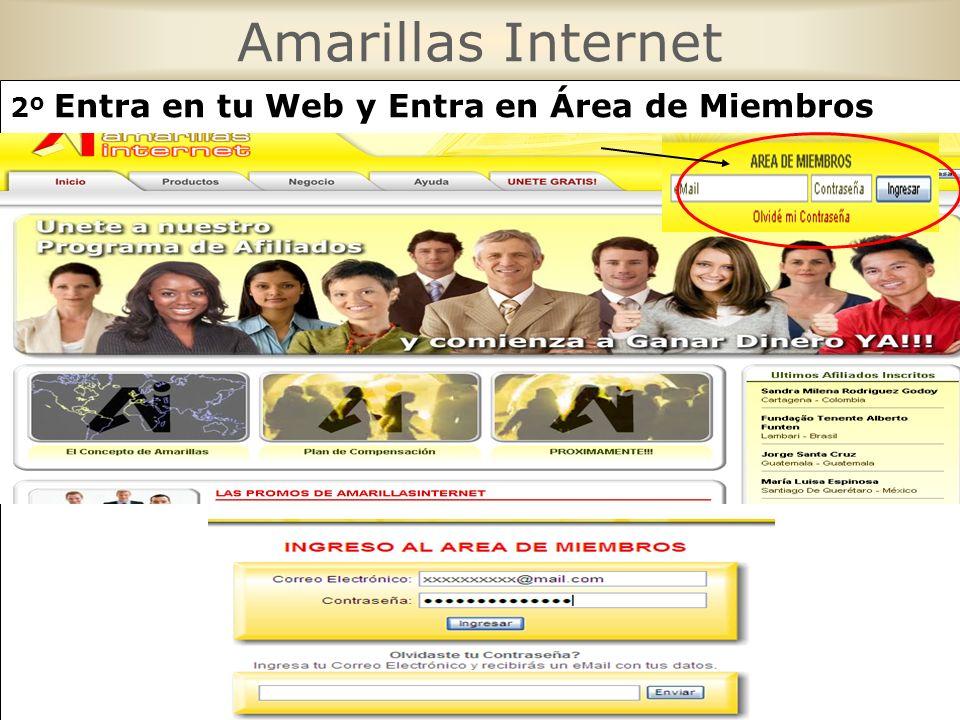 2º Entra en tu Web y Entra en Área de Miembros Pon Tu E-mail y password