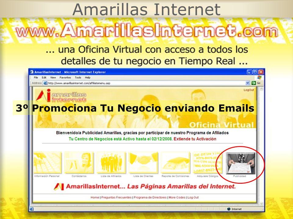 Amarillas Internet 3º Promociona Tu Negocio enviando Emails