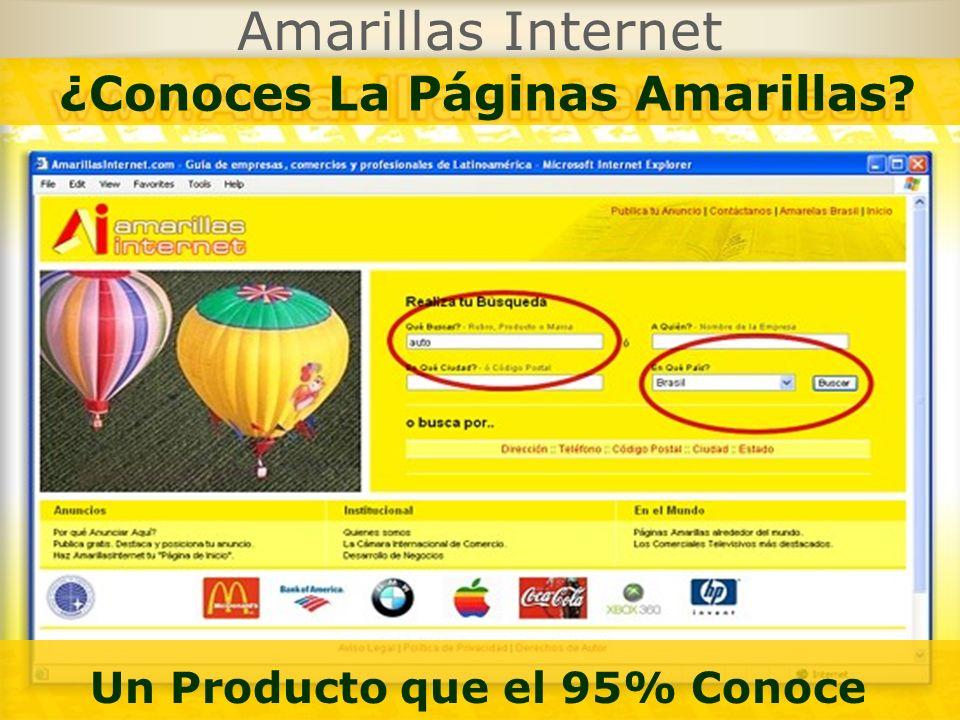 Amarillas Internet Un Producto que el 95% Conoce ¿Conoces La Páginas Amarillas?