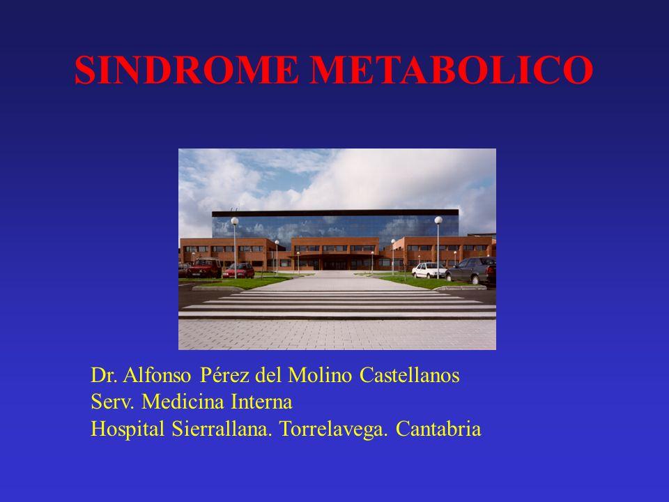 Síndrome metabólico. Tratamiento Prevención de aparición de eventos cardiovasculares