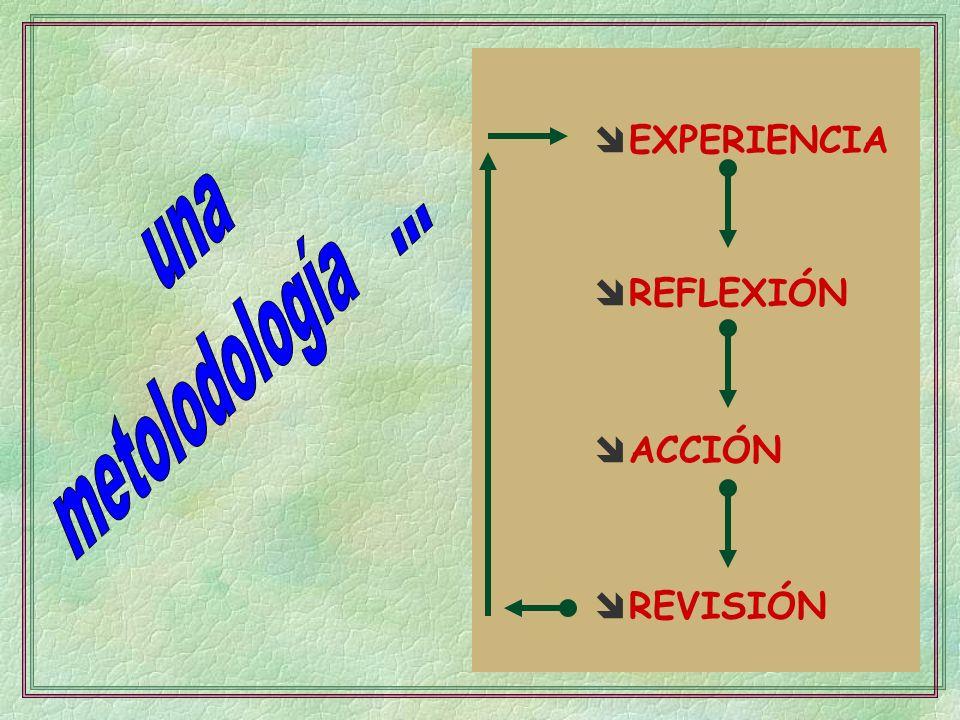EXPERIENCIA REFLEXIÓN ACCIÓN REVISIÓN