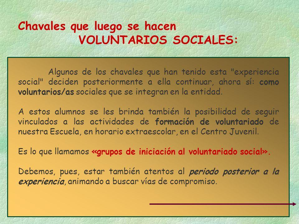 Chavales que luego se hacen VOLUNTARIOS SOCIALES: Algunos de los chavales que han tenido esta