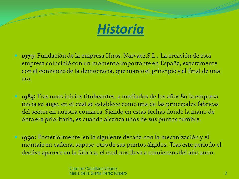 Historia 1979: Fundación de la empresa Hnos. Narvaez,S.L.. La creación de esta empresa coincidió con un momento importante en España, exactamente con