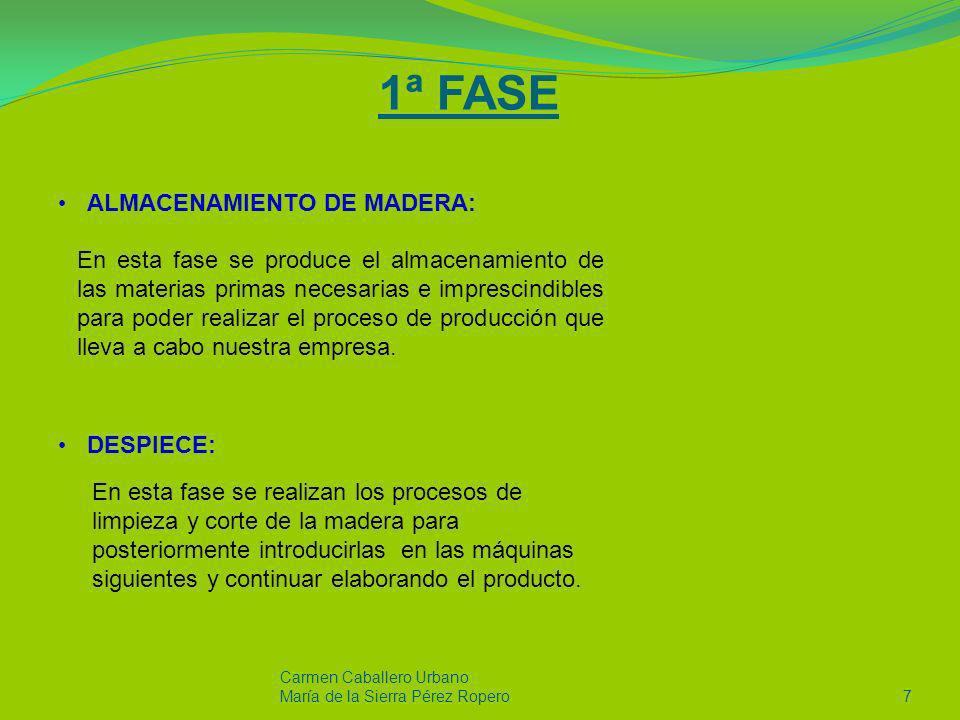 2ª FASE MECANIZACIÓN: Carmen Caballero Urbano María de la Sierra Pérez Ropero 8 Esta es una de las fases mas importantes del proceso productivo, ya que es donde la empresa emplea mas mano de obra e incorpora la tecnología mas avanzada, con el objetivo de lograr satisfacer todos los requisitos que sus clientes le demandan.