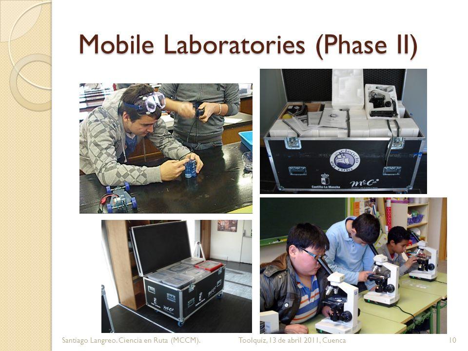 Mobile Laboratories (Phase II) 10Santiago Langreo. Ciencia en Ruta (MCCM). Toolquiz, 13 de abril 2011, Cuenca