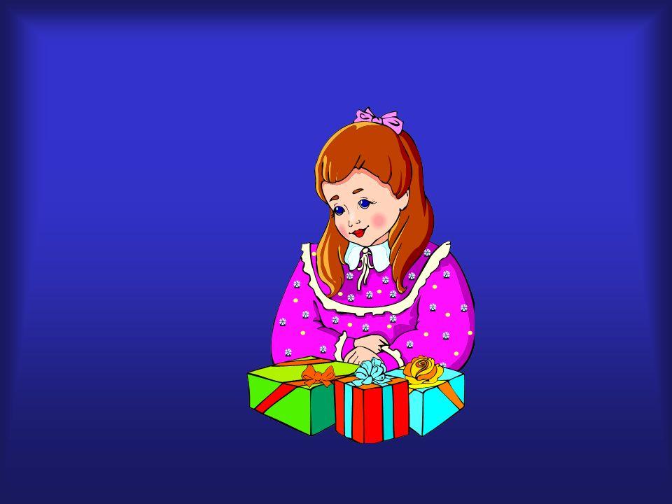 regalo, feliz, cumpleaños, gracias