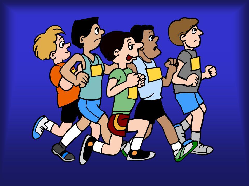 gente, corriendo