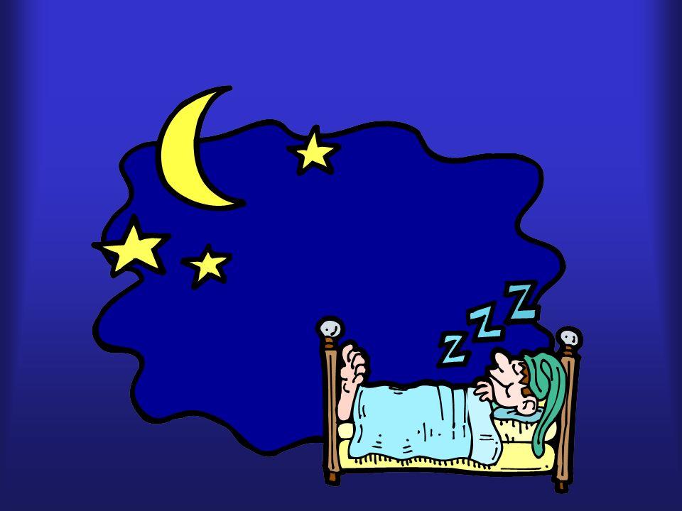 estrella, luna, dormido, cama
