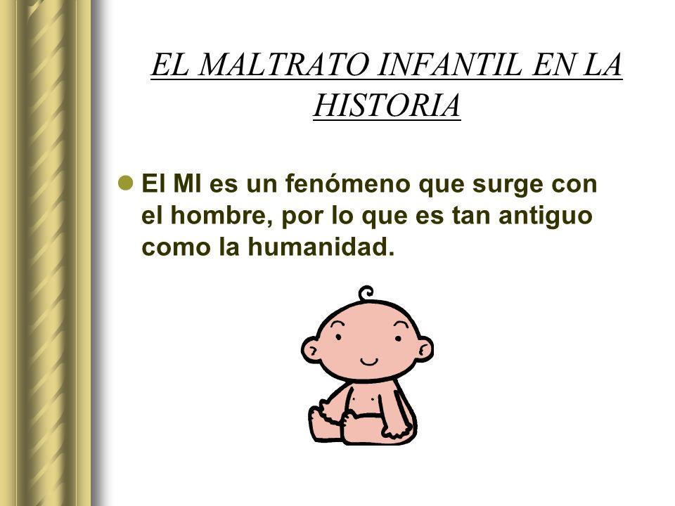 EL MALTRATO INFANTIL EN LA HISTORIA El MI es un fenómeno que surge con el hombre, por lo que es tan antiguo como la humanidad.