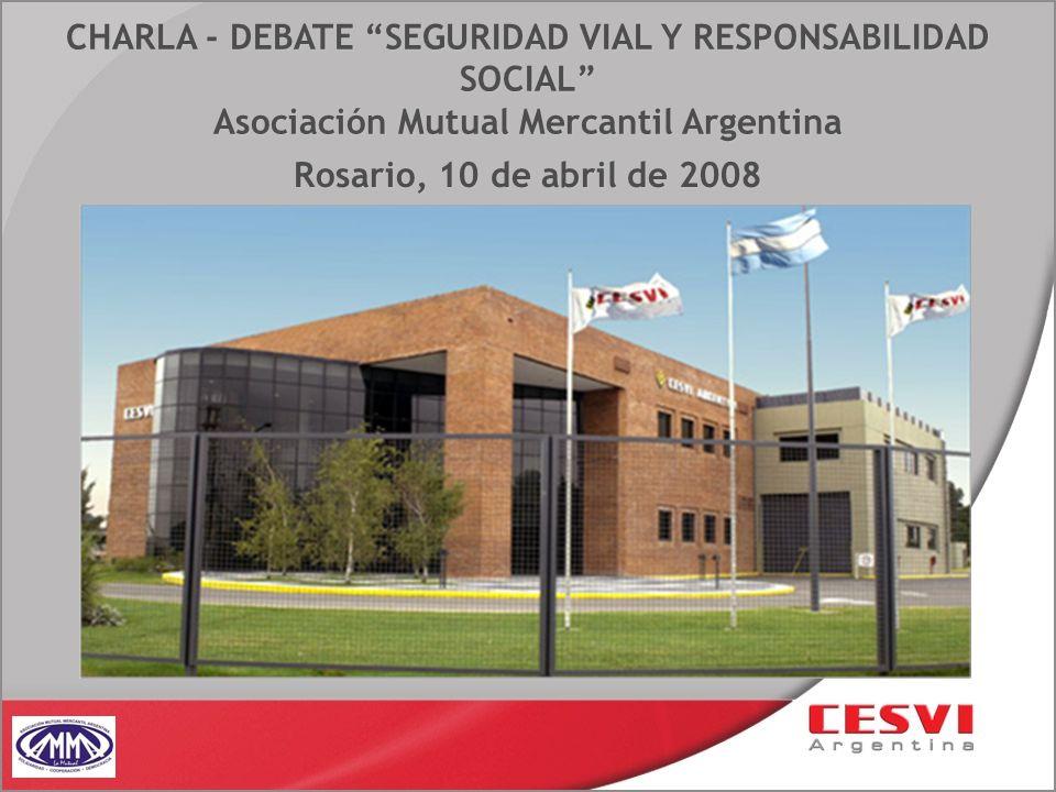 CHARLA - DEBATE SEGURIDAD VIAL Y RESPONSABILIDAD SOCIAL Asociación Mutual Mercantil Argentina Rosario, 10 de abril de 2008