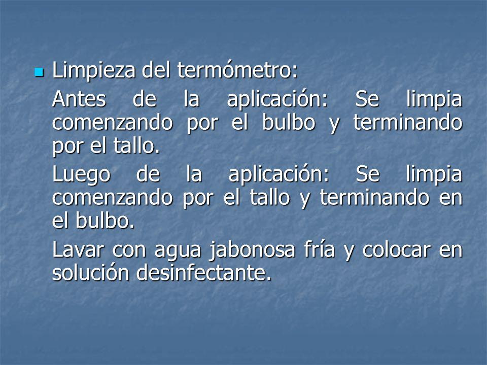 1 2 3 4 Lugares de la toma de temperatura 1-Infrarroja Timpánica (37.7) 2-Bucal (37.7) 3-Axilar (37.5) 4-Rectal (38.3)