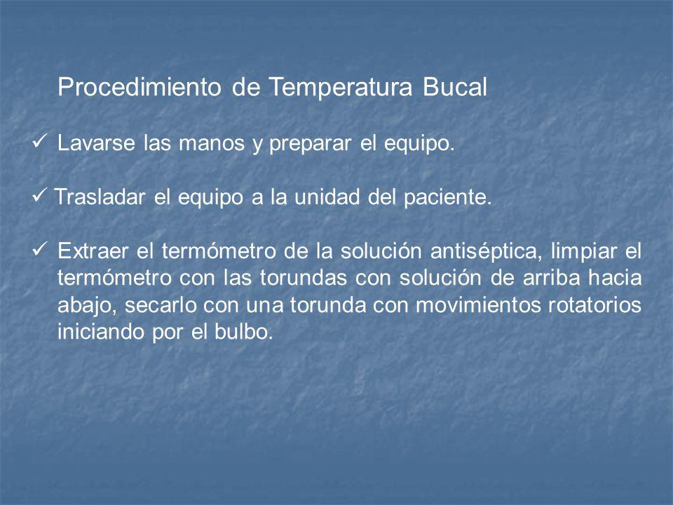 Temperatura Bucal