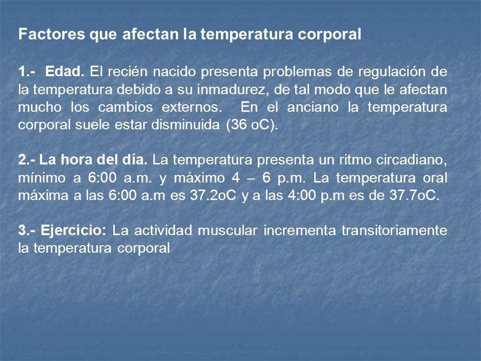 Definición de Temperatura: Es el grado de calor mantenido en el cuerpo por el equilibrio entre la termogénesis y la termólisis. Regulación de Temperat