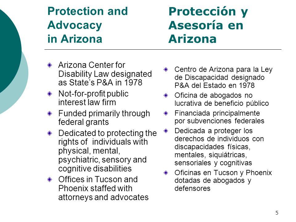 Tip #6: Know When and Where to Ask for Help AHCCCS/ALTCS http://www.ahcccs.state.az.us State Health Insurance Assistance Program 1-800-432-4040 (for Medicare) RBHA Mental Health Services www.azdhs.gov/bhs Division of Developmental Disabilities (DDD) www.de.state.az.us.ddd Community Legal Services (Legal Aid) 928-782-7511 or 1-800-424-0037 AHCCCS/ALTCS http://www.ahcccs.state.az.us Programa Estatal de Asistencia de Seguro Médico 1-800-432-4040 (para Medicare) Servicios de Salud Mental RBHA www.azdhs.gov/bhs División de Discapacidades de Desarrollo (DDD) www.de.state.az.us.ddd Servicios Legales Comunitarios (Asistencia Legal) 928-782-7511 or 1-800-424-0037 46 Consejo #6: Sepa cuándo y dónde pedir ayuda