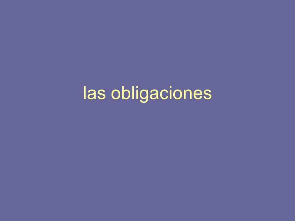 las obligaciones