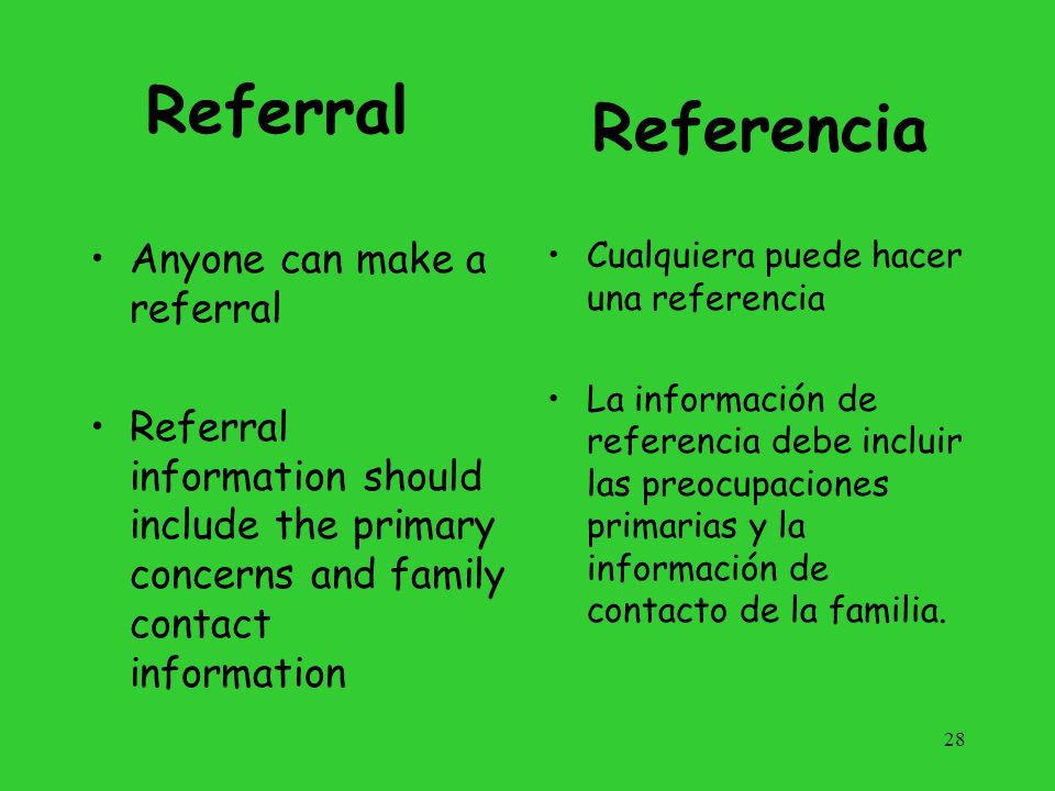 Eligibility Evaluation Timely and comprehensive multidisciplinary evaluation of the needs of children and family- directed identification of the needs of each family Evaluación multidisciplinaria a tiempo y completa de las necesidades de los niños e identificación orientada a la familia de las necesidades de cada familia.