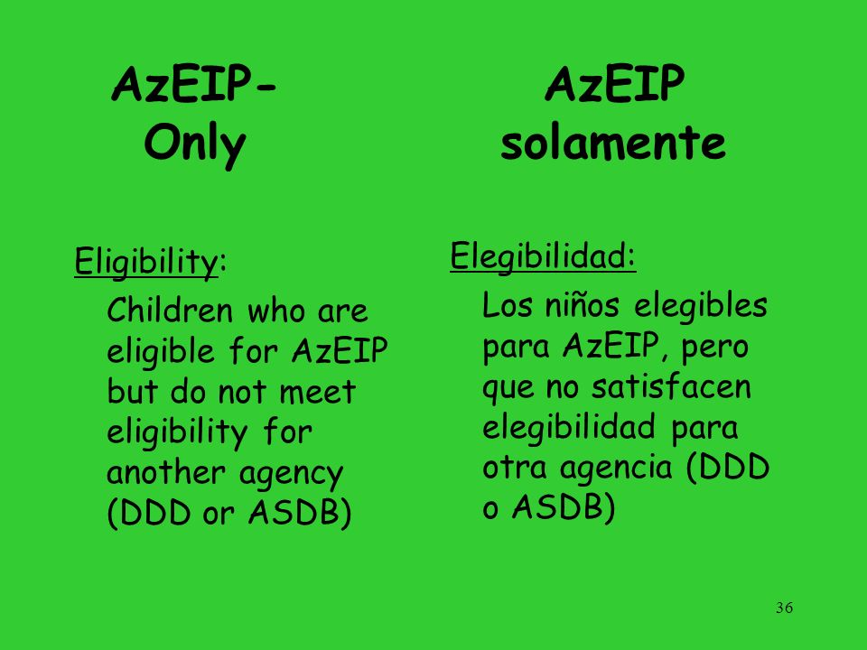 37 Individualized Family Service Plan (IFSP) Plan de Servicio Familiar Individualizado (IFSP)