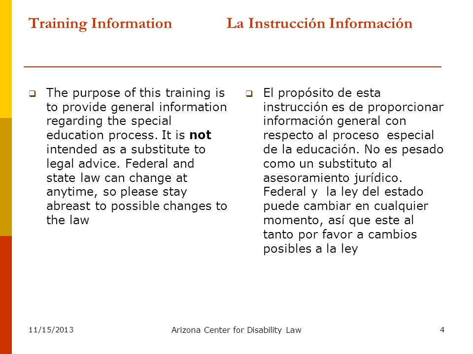 11/15/2013 Arizona Center for Disability Law 35 What is the IEP.