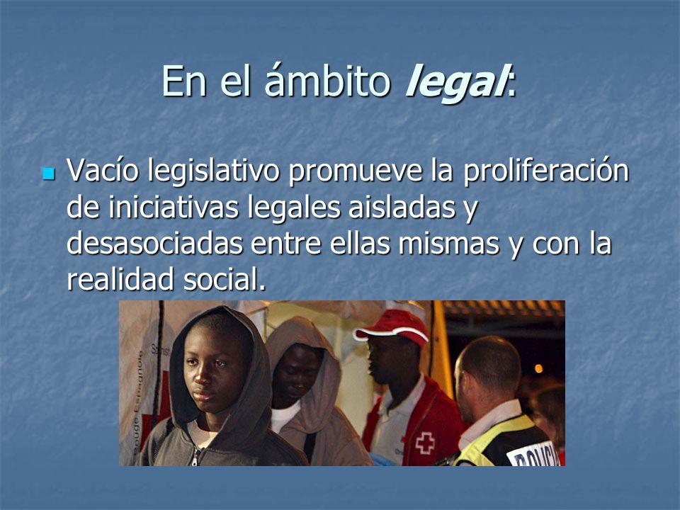 En el ámbito legal: Vacío legislativo promueve la proliferación de iniciativas legales aisladas y desasociadas entre ellas mismas y con la realidad so