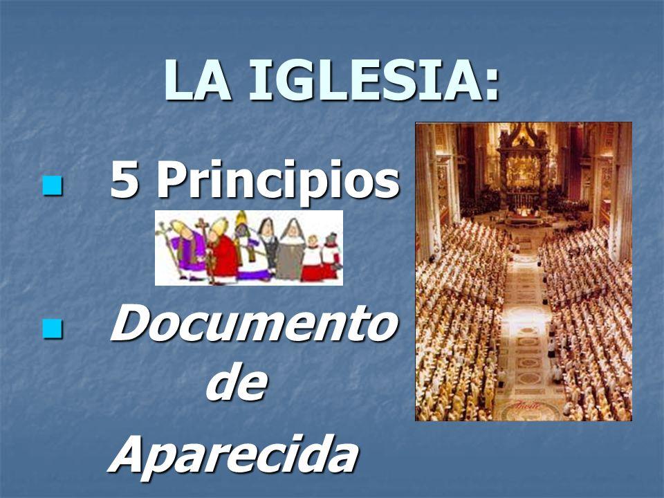 LA IGLESIA: 5 Principios 5 Principios Documento de Documento deAparecida