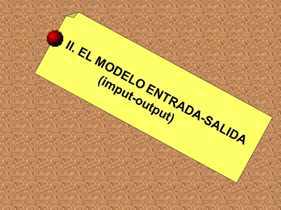 II. EL MODELO ENTRADA-SALIDA (imput-output)