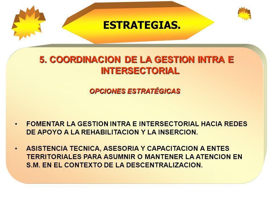 4. ESTABLECER LA CALIDAD Y EQUIDAD COMO PRINCIPIO FUNDAMENTAL DE ATENCION OPCIONES ESTRATÉGICAS. FORMACION DEL RECURSO HUMANO CON CALIDAD TECNICO- CIE