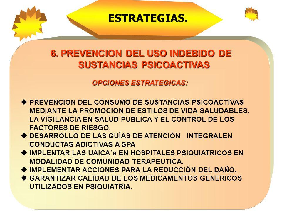 5. COORDINACION DE LA GESTION INTRA E INTERSECTORIAL 5. COORDINACION DE LA GESTION INTRA E INTERSECTORIAL OPCIONES ESTRATÉGICAS FOMENTAR LA GESTION IN