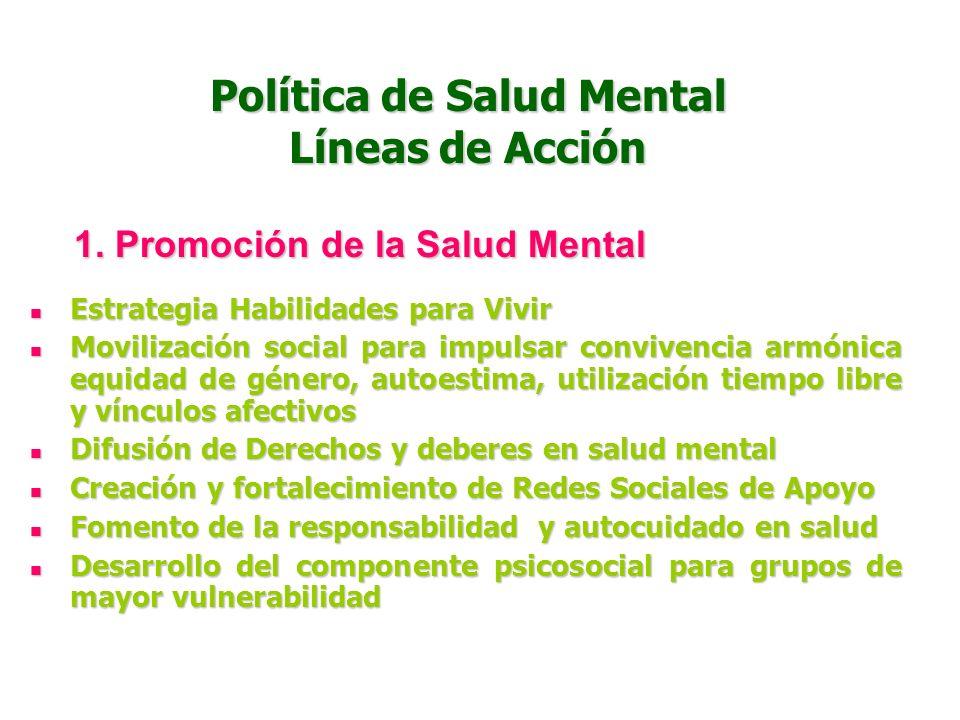 Plan Estratégico Salud Mental Ministerio de la Protección Social Consejo Nal de SSS Entidades territoriales (Departamentales, Distritales y Municipale