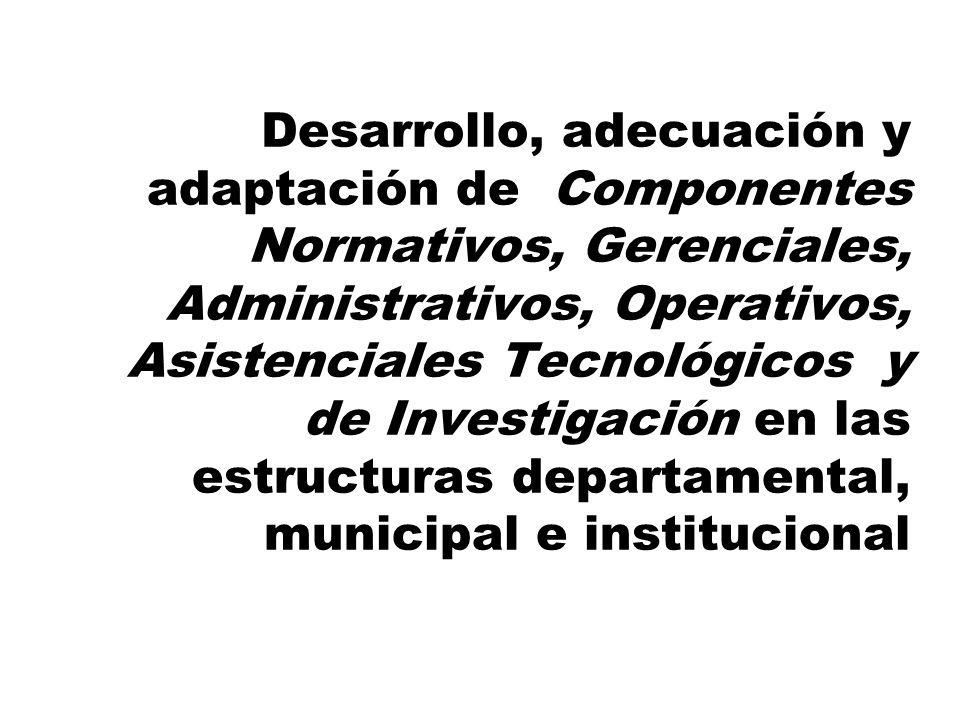 Generación y apoyo al Trabajo en Red, Intersectorial, Interinstitucional y Comunitario, con el concurso de los entes gubernamentales y no gubernamenta