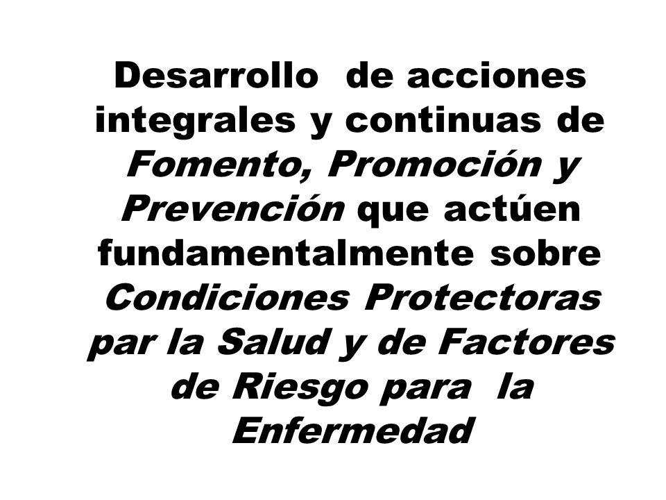 Desarrollo de proyectos integrados a planes de desarrollo departamental, municipal e institucional en torno a los ejes de Familia, Grupos Vulnerables,