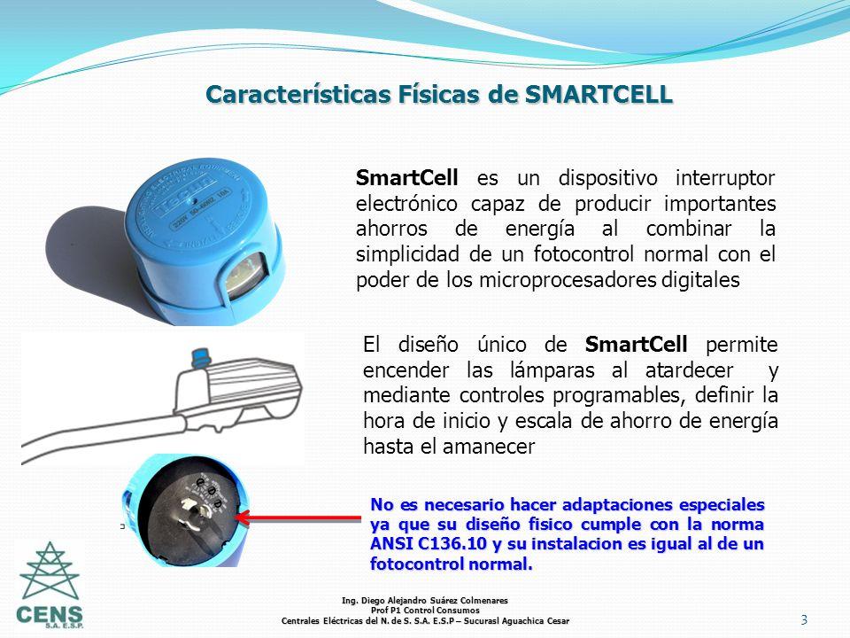 3 Características Físicas de SMARTCELL SmartCell es un dispositivo interruptor electrónico capaz de producir importantes ahorros de energía al combina