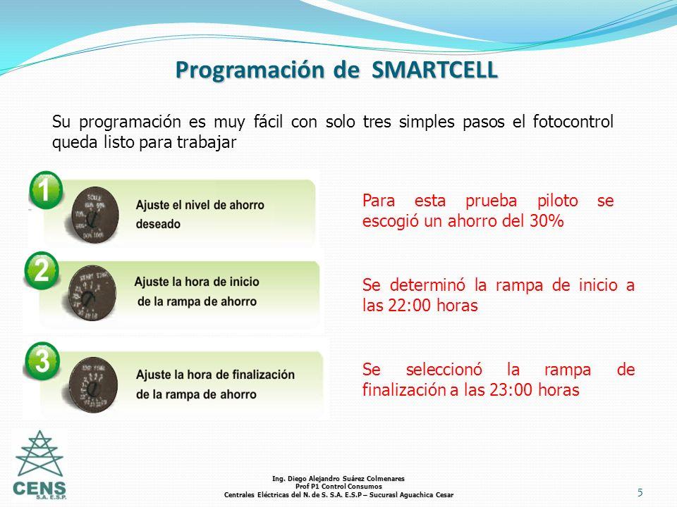 5 Programación de SMARTCELL Su programación es muy fácil con solo tres simples pasos el fotocontrol queda listo para trabajar Para esta prueba piloto