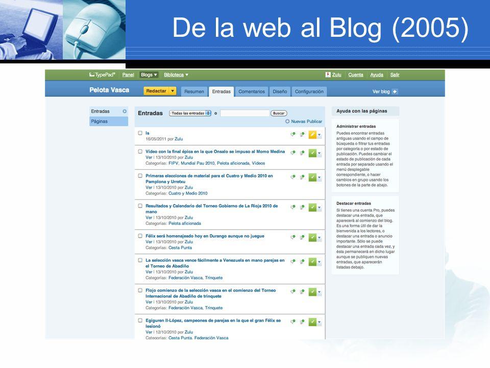 De la web al Blog (2005)