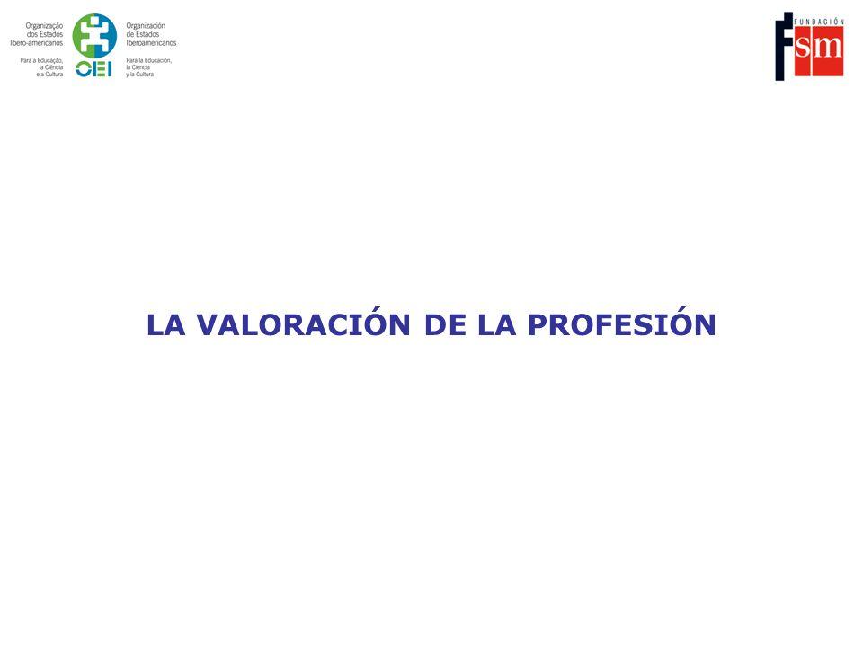 LA VALORACIÓN DE LA PROFESIÓN